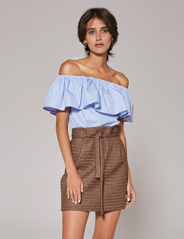 bluzka popelinowa z falbana 01