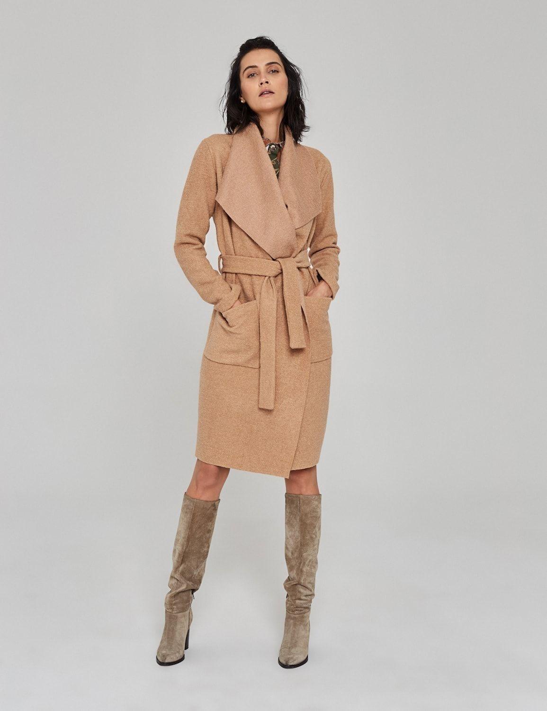 płaszcz z wełny boucle 01