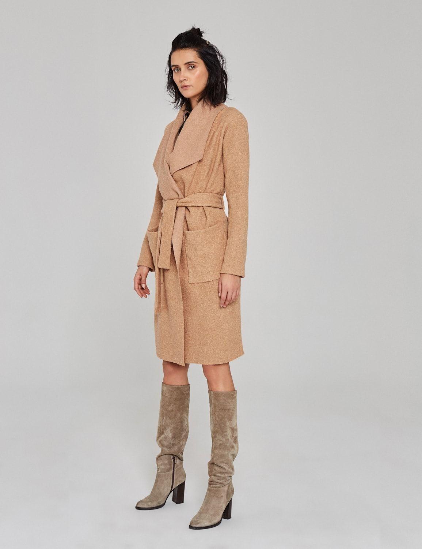 płaszcz z wełny boucle 02