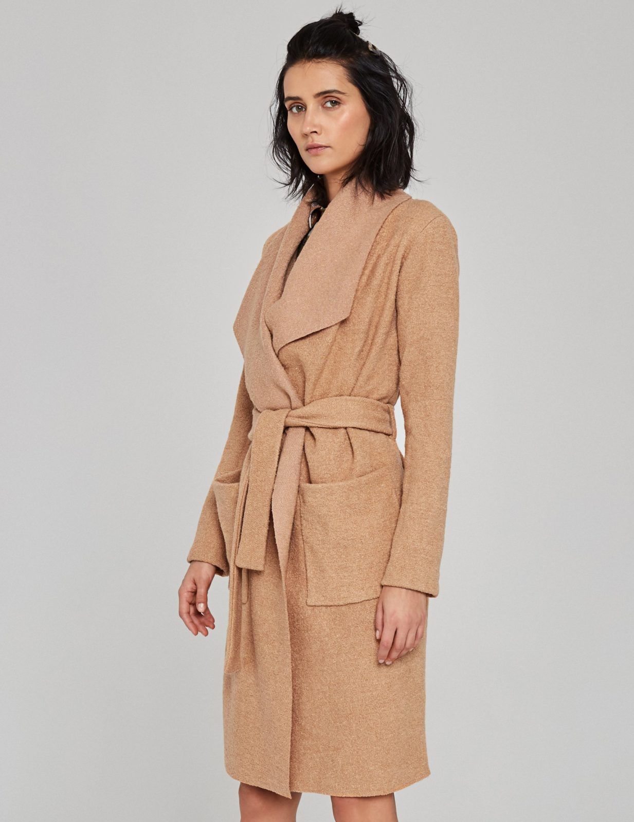 płaszcz z wełny boucle 05