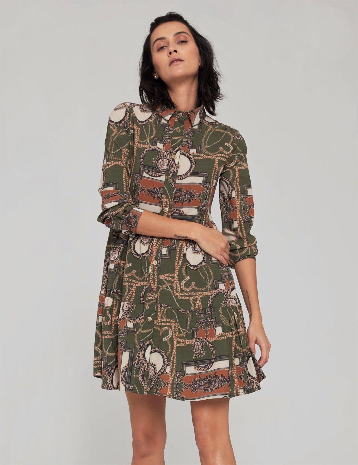 sukienka z nadrukiem w lancuchy 4a