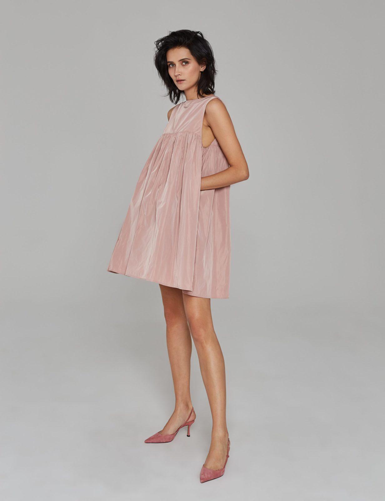 sukienka z tafty z falbana 01