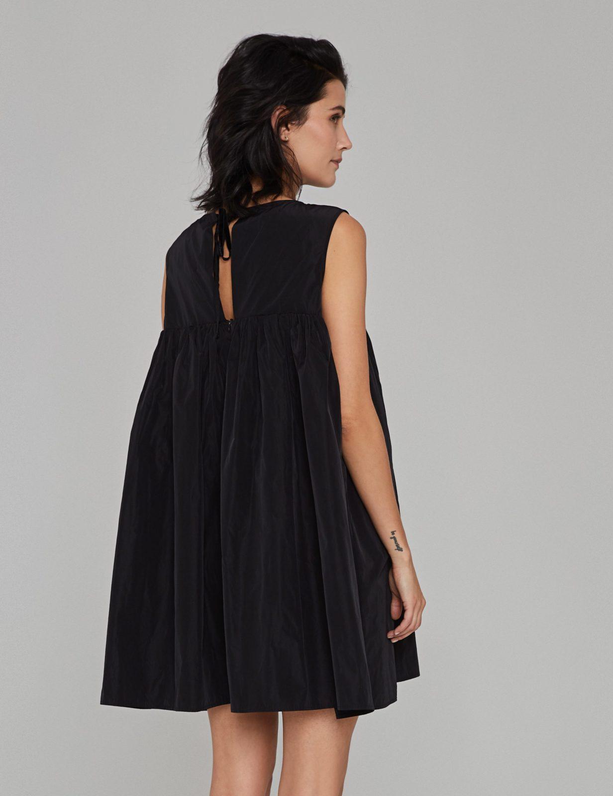 sukienka z tafty z falbana cz 02