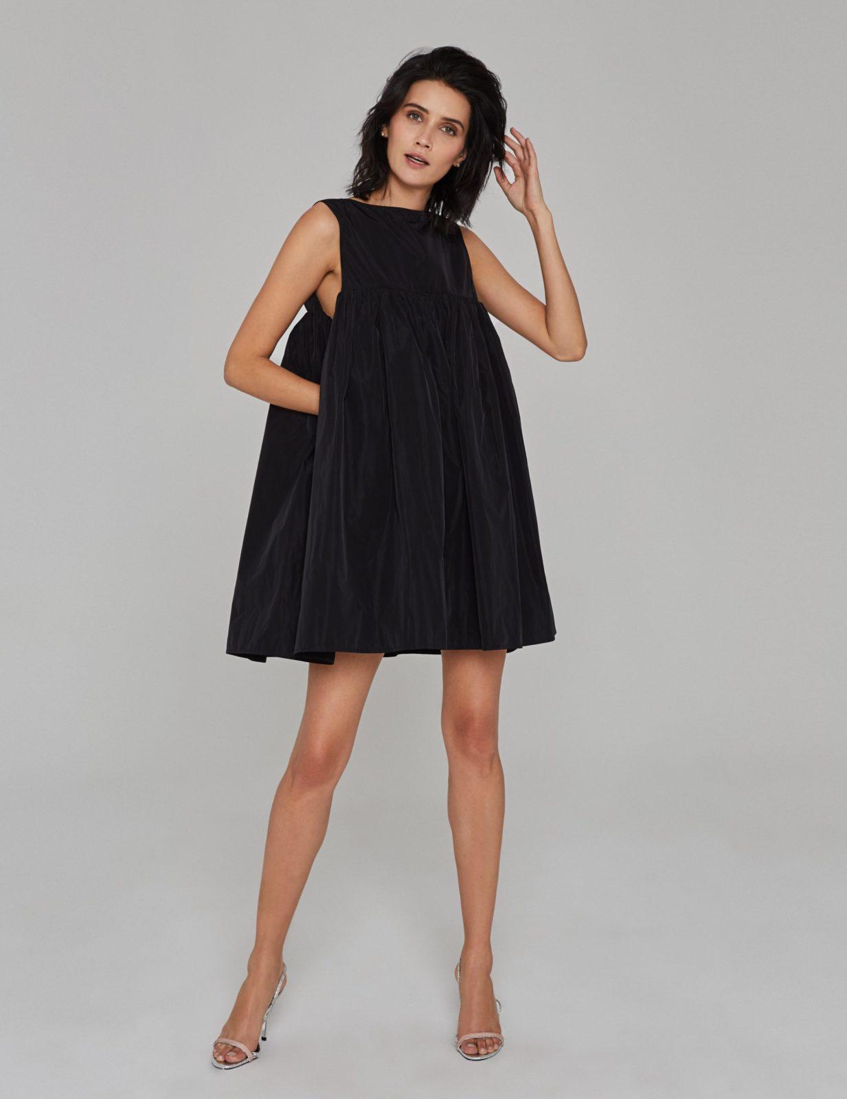 sukienka z tafty z falbana cz 03