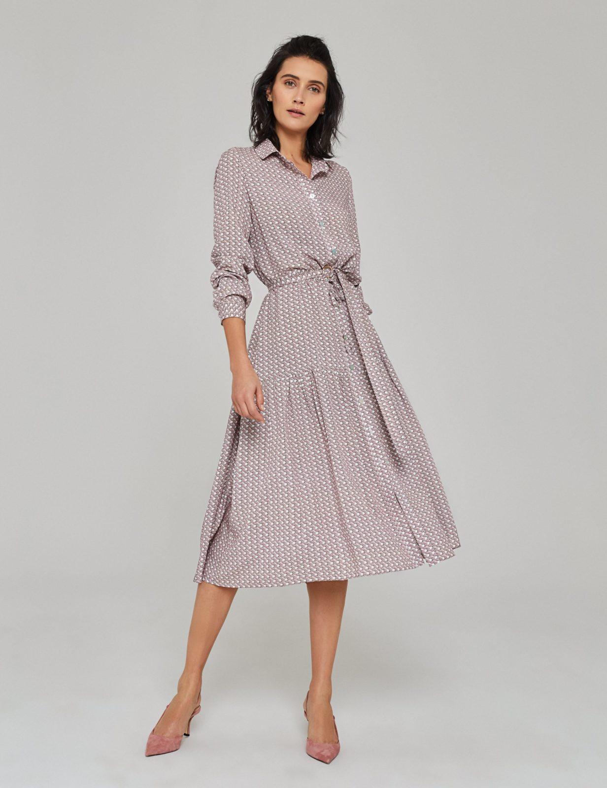 sukienka z wiskozy z nadrukiem 01